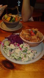 Quinoa Salad, Lettuce Salad, Beetroot Salad, Ratatouille and Stir Fried Vegetables