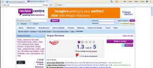 Shocking! Argos is rated 1.3 out of 5 by Argos customers on the Review Centre website