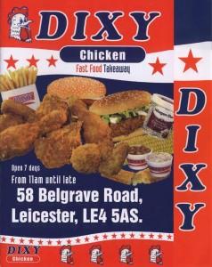 Dixy Chicken Menu