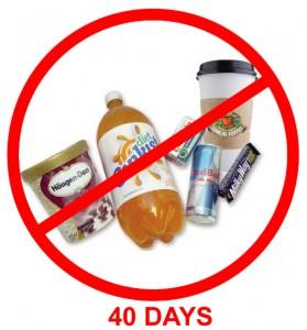 No caffeine for 40 days
