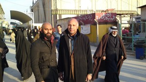 Me and my dad and Ali ibn Abu Talib (Outside Imam Ali's Shrine in Najaf, Iraq)
