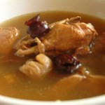 Chinese 40 days Confinement food: Dried longan, red dates herbal chicken soup