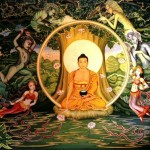 Gautama Buddha fasting for 40 days under the Bodhi Tree