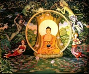 Gautama Buddha under the Bodhi Tree