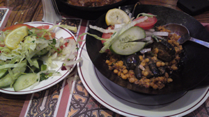 Chana Dal and Aubergine at New Tayyabs Restaurant, Whitechapel, London