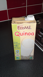 EcoMil Quinoa milk. 0% Soya. 0% Cholesterol. 0% Gluten. 100% Disgusting.