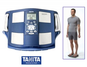 The Tanita BC-545 Advanced BIA (Bioelectrical Impedance Analysis) Scales sends electricity through your hands as well as your feet to give you a segmented body fat reading including visceral fat